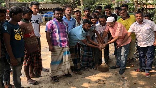 ধামইরহাটে লায়ন্স ক্লাবের ভিত্তিপ্রস্থর স্থাপন
