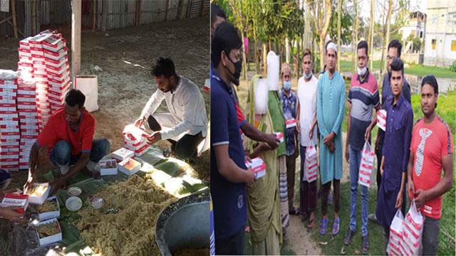 নওগাঁয় জেলা যুবদলের উদ্যোগে খাবার বিতরণ