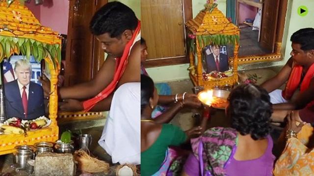 ট্রাম্পকে 'ঈশ্বর' ভেবে পূজা করছেন ভারতীয়রা! ভিডিও ভাইরাল